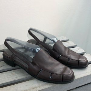 Partners Brown Leather Huarache Sandals 8